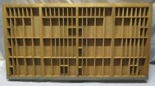 Vintage HAMILTON Letterpress Tray PRINTERS DRAWER  Shadow Box Many Compartments
