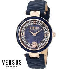Versus by Versace VSPCD2817 Covent Garden roségold blau Leder Damen Uhr NEU