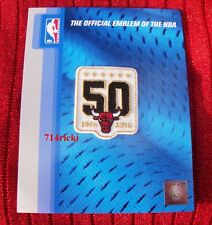 Official NBA 1966 2016 Chicago Bulls 50th Anniversary small white patch