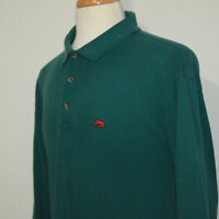 GORGEOUS PERLIS LONG SLEEVE CAJUN POLO SHIRT GREEN w RED CRAWFISH Sz XL