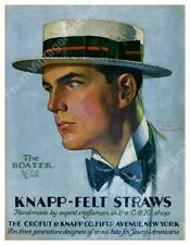 1930 Knapp Felt straw Boater hat ad Percy Edward Anderson new poster 19x24