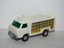 Tomy Tomica Nissan Caball Beverage Drink Delivery Truck White Old Wheels 1:64