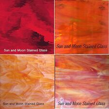 RED Spectrum Stained Glass Pack (4 Sheets of 8X10) - Stained Glass Sheets