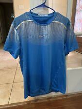 Nike Hypercool Max Fitted Light Blue Metallic Silver men size Large  men's