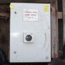 confined space 240V RCD protec power distribution board transformer 32V lighting