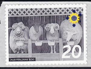 Australia Cinderella Australians No 9 Mint Peel & Stick