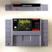 Secret Of Mana 1 2 Game 16 Bit Cartridge Console Nintendo US Version SNES Game