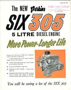 The New Perkins Six 305 5 Litre diesel engine more power-longer life brochure