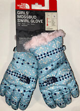 The North Face Girls Mossbud Swirl Gloves Heat Seeker Large Blue Pink