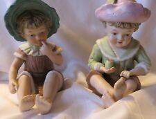 Vintage 1930s Piano Baby Boy and Girl