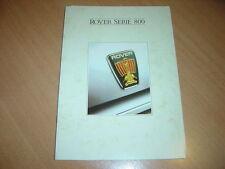 CATALOGUE Rover Série 800 de 1990