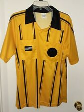 Gently Used Yellow Soccer Referee Jersey Short Sleeve-Size M-Official Sports