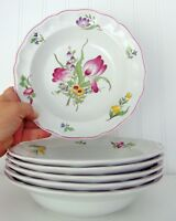Spode Marlborough Sprays salad plate, soup bowl Floral 2/6770-7 made in England