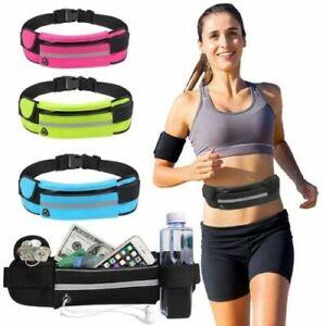 Running Belt Unisex Sports Jogging Phone Mobile Money Bag Waist Travel Yellow