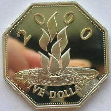 Barbados 1999-2000 Millennium Torch 5 Dollars Silver Coin,Proof