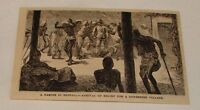 1882 magazine engraving ~ FAMINE IN BENGAL