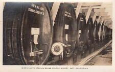 Antique POSTCARD c1920-30s Wine Vaults Italian Swiss Colony Winery ASTI CA 13238