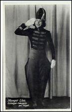 MARGOT LISS Schlager Sängerin am Flügel alte Prominenten Postkarte um 1930/40
