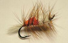 Buck Bug Orange/White #8 Salmon Hook  skating Flies