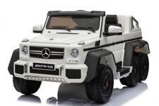 Mercedes G63 AMG XXL SUV JEEP Elektroauto Kinderauto Kinderfahrzeug 6x6 12V Weiß