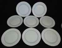 "Minton England Silver Scrolls Set of 8 Salad Plates 8 1/8"" -Bone China"