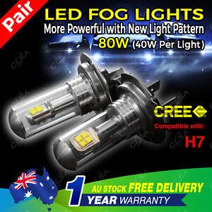 2PCS 80W H7 LED CREE 9-32V High Power Fog Car Light Daytime Running Bulb Globe