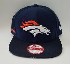 Men's New Era 9FIFTY NFL 2016 Broncos 9Fifty Sideline Snapback Cap Hat Navy