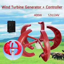 NEW 400W VAWT Lanterns Wind Turbine Generator Vertical Axis + Controller  12V/24