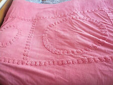 Vintage Candlewick Chenille Bed Spread Single Pink
