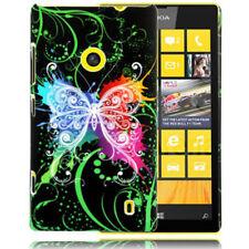 HardCase Schutzhülle für Nokia Lumia 520 Butterfly bunt schwarz Etui Case Cover