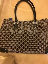 Liz&Co Gray/Black Design Extra Large Tote Bag With Built In Wallet