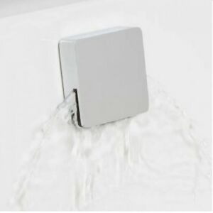 Luxury Square RAK Bathroom Freeflow Overflow Bath Filler Tap & Click Clack Waste