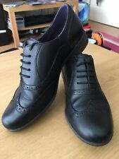 Ladies Clarks Carousel Trick Black Leather Lace Up Brogues Shoes D Fitting Girls