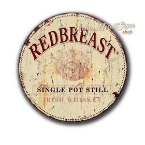 "Redbreast Whiskey pub bar tavern man cave 12"" round circular  metal tin sign"