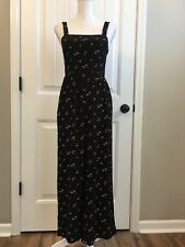 b919d210fab New Madewell Smocked Crop Jumpsuit in Flower Toss Black Sz 00 H6516