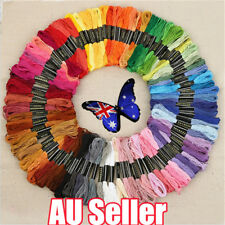 50 Color Egyptian Cross Stitch Cotton Sewing Skeins Embroidery Thread Floss BO