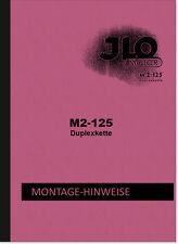 ILO M 2-125 istruzioni di riparazione ISTRUZIONI DI MONTAGGIO DI OFFICINA MANUALE MOTORE