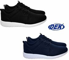 NEW MENS WOMENS LIGHTWEIGHT MEMORY FOAM LACE UP GYM RUNNING LADIES TRAINER SHOES