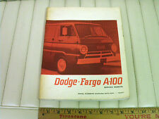 1967 Dodge & Fargo A100 Van Shop Manual CDN