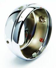 """Replica lucas type 7"""" flat back chrome headlight shell triumph,bsa"""