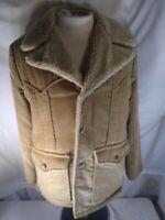 Vintage Lee Storm Rider Sherpa Jacket Beige USA Made Sz 42r Large