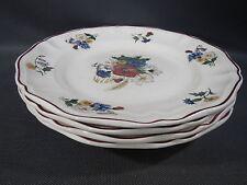Lot 4 anciennes assiettes plate sarreguemines AGRESTE french antique plates