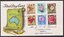 1968 State Flower Emblems Set Australia SEVEN SEAS Generic FDC Cover ***