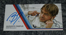 AUGUSTO FARFUS  - RACING DRIVER - POSTCARD  PHOTO SIGNED- ( Dented)