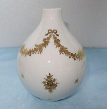 Heinrich Porzellan Selb Bavaria, Vase Nr. 1809, Golddekor - Handmalerei - 20 cm