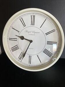 Cream Angel Square London Shabby Chic Quartz Wall Clock Vintage Style