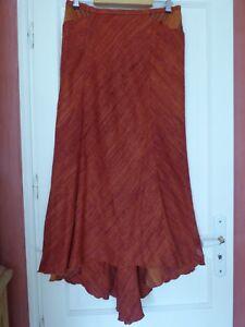 Jupe sirène très longue Saona 44-16-XL bourrette de soie rare - très belle coupe