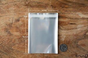 Clear Cellophane OPP Plastic Bag Self Adhesive Display Peel & Seal Approx.9x14cm