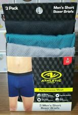 """Mens 3 Pack Underwear Boxer Briefs Shorts Small 28-30""""  New"""