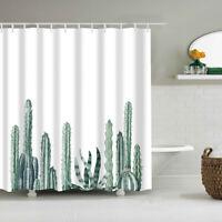 Tropical Cactus Shower Curtain Waterproof Bath Curtain For The Bathroom Decor